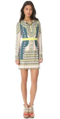 Shopbop love the print in this dress