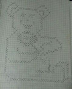 Grid line doodle 6
