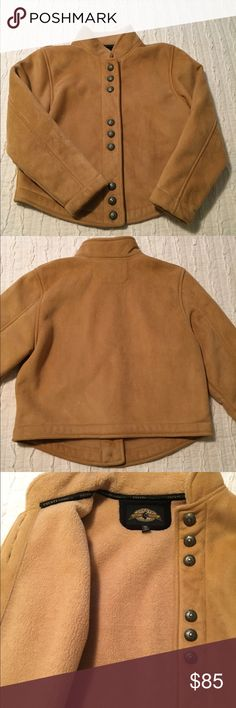 Women's suede jacket Designed by Country Clothing Co. beautiful suede and fleece lined military cut style women's jacket. Super soft inside and out. Jackets & Coats Utility Jackets