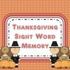 This is a memory game covering the first grade Dolch 220 sight words.  The cards have thanksgiving pictures on them to go with the November holiday...