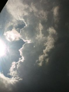 Storm clouds and sunshine.