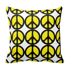 Trendy Peace Sign Throw Pillow #vangogh #gogh #pine #trees #dandelions #garden #pillow #bedroom #decoration #home #homedecor #nautical #sea #waves #chevron #tribal #floral #inspirational #monogram #vintage