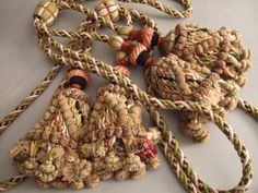 Antique French Tassel Tie Backs. Hand Made by JacquelineMcEwan