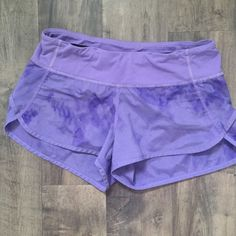 Lululemon sped shorts sz 4 EUC these shorts are super cute! Just a little small for me. NO TRADES lululemon athletica Shorts