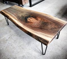 Just completed and available at our Toronto store - this nice live edge black walnut coffee table. Interesting grain accentuated by a satin clear coat.  It is mounted on black satin hairpin legs.  It is 16 inches tall about 51 inches long and 20 inches wide.  Dm us at sales@barnboardstore.com for pricing.  #instasale #instadeal #instagood #coffeetable #barnboard #barnwood #barn #reclaimed #reclaimedwood #rustic #rusticwood #igers #oneofakind #toronto #hamilton #hamont #tdot #cottage #muskoka…