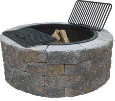 Rock Outdoor Fire Pit | Scapestone™ Fire Pit Kit - Concrete Patio Pavers - Boston MA ...