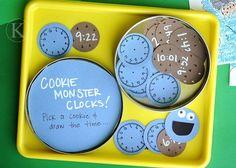 cookie monster clocks