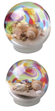 Rainbow Seashell Water Snow Globe                                                                                                                                                                                 More
