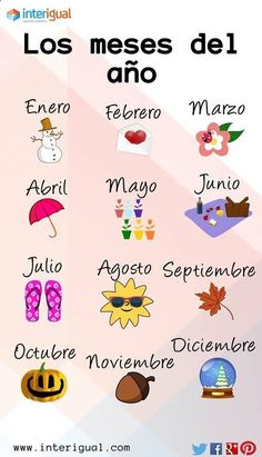 #learnspanish with #interigual - The months of the year