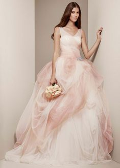 Beyond White: 15 Ombre Wedding Gowns via Brit + Co.