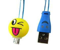 JOCRI Awesome USB Emoji Cable change colours •Product : High speed Change color Led lightning USB cable •Material : LED FALT CABLE •Length : 1 meter = 3 feet •Current : 5V/2.1 A •Compatibility : Samsung Galaxy S2, S3, S4, Note 1/2/4, Mega; HTC One M8 M9, EVO, Droid DNA; Motorola ATRIX, Droid; Google Nexus 4, Nexus 7, Nexus 10; LG G3 G4 Optimus, and other micro USB Devices etc. •Features This excellent,reliable and durable cable offer fast charge and steady data transmission for your Android…