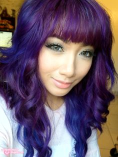 Purple and blue hair. If only I were this bold!!