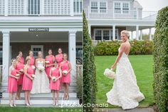 Nantucket Yacht Club Wedding - Erin & Steve All white wedding with pops of pink!  Photography: Brea McDonald Photography www.breamcdonald.com  Floral Design: Soiree Floral www.soireefloral.com  Venue: Nantucket Yacht Club www.nantucketyachtclub.org  Event Planner: Activities www.acktivities.com  #nantucket #wedding #yacht #club #soireefloral #breamcdonald