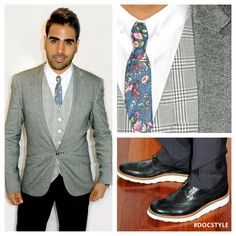 ITV This Morning... Jacket & Shirt #ASOS, Waistcoat #REISS, Tie #Topman, Trousers #BenSherman, Shoes #JasperConran