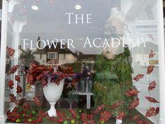 Autumn window 2014 at The Flower Academy Inc Ltd . www.thefloweracademy.org