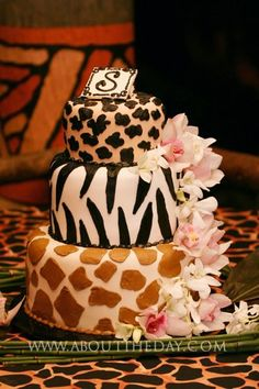 Cake from a wedding we did awhile back....wedding was at San Diego Zoo