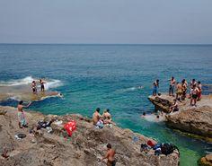 "Amanda Kirkpatrick, ""Corniche Swimmers, Beirut, Lebanon"""