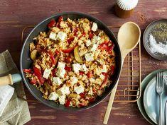 Feta, Happy Foods, Paella, Healthy Recipes, Healthy Food, Veggies, Low Carb, Cooking, Ethnic Recipes