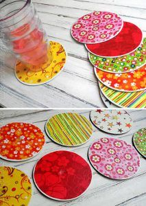 Coasters from old cds diy coasters, cutlery holder, recycle cans, cd crafts, creative Cd Crafts, Diy And Crafts Sewing, Crafts For Teens, Crafts To Sell, Creative Crafts, Craft Projects, Projects To Try, Garden Projects, Diy Y Manualidades