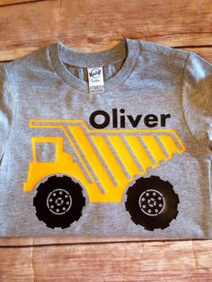 Rock Hauler Construction Dump Truck Shirt by SewMacy on Etsy