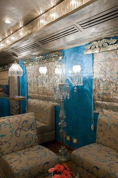 Train Chartering - Royal Rajasthan on Wheels, Indias new luxury train, Bar Lounge in Restro Sheesh Mahal by Train Chartering & Private Rail Cars, via Flickr