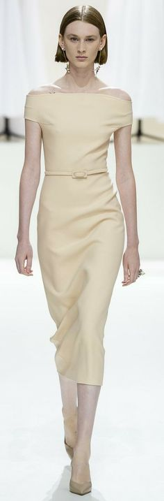 French Vanilla, Christian Dior, Peplum Dress, Champagne, Shoulder Dress, Beige, Dresses, Style, Fashion