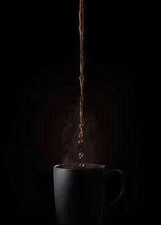 Shooting Coffee Splash Ad Photos for Peet's Coffee