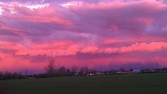 Another shot of those pink-purple clouds- beautiful Oregon sky