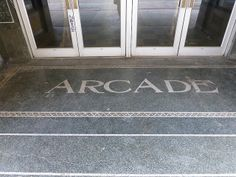 Huntington, WV Arcade terrazzo and tile by army.arch, via Flickr