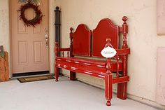 I would love to have this bed frame bench