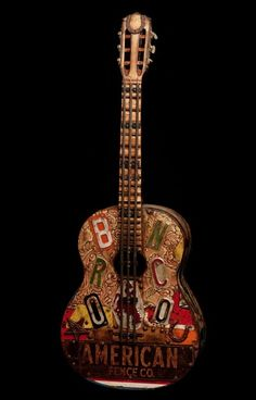 - Painting, Photography and Sculpture - 'Bronco' by Dave Newman Guitar Art, Acoustic Guitar, Violin Instrument, 21st Century, Mixed Media, Sculpture, Guitars, Musicians, Instruments