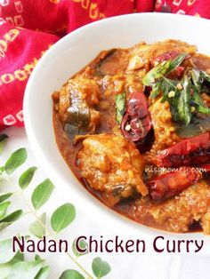 Cooking Is Easy: Nadan Chicken Curry (Kerala Style) Step by step Spicy Recipes, Curry Recipes, Indian Food Recipes, Asian Recipes, Chicken Recipes, Cooking Recipes, Healthy Recipes, Cooking Beef, Cooking Cream