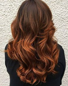33 Hottest Copper Balayage Ideas for 2017
