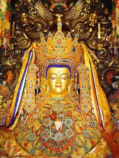 全球供佛齋僧資訊網 | 【西藏拉薩大昭寺─釋迦牟尼佛十二歲等身像】