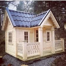 A Dream playhouse. Exclusive, beautiful and elegant playhouses. This model have beautiful house decoration, looks like something from a fairy tale!