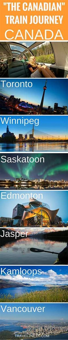The trans-Canadian train from Toronto to Vancouver is a Via Rail train across Canada for your bucket list. Quebec, Vancouver, Toronto, Train Travel, Travel Usa, Train Trip, Luxury Travel, Banff, Alberta Canada