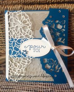 """Projet d'Atelier démonstration Stampin'Up  Lot Amour Fou/""""so in love bundle"""" """"Detailed Floral Thinlits"""""""