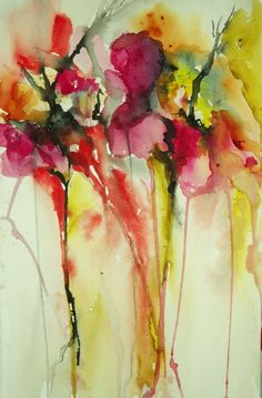 "dreamy | Saatchi Online Artist: Karin Johannesson; Watercolor, 2013, Painting ""Untitled"""