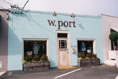 W. Port's turquoise facade beckons from Roswell Road.
