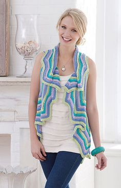 Believe it or not this crochet vest requires 4800 yards of yarn … or rather size 10 crochet thread! It's a free Red Heart crochet pattern designed by Nazanin Fard.
