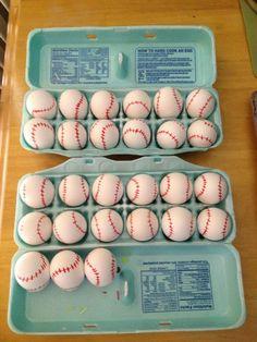 Baseball  Easter eggs.