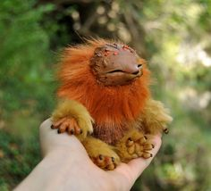 Autumn Woodling original fantasy creature art doll by LisaToms
