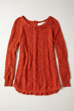Slubby Button-Back Pullover - anthropologie.com - $98.00
