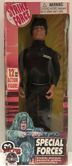 This just in at The Angry Spider Vintage Toy Store: TAS037543 - Vinta...  Check it out here! http://theangryspider.com/products/tas037543-vintage-strike-force-12-special-forces-action-figure?utm_campaign=social_autopilot&utm_source=pin&utm_medium=pin