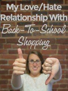 Every mother has a love/hate relationship with back-to-school shopping - and here's why! @RobynHTV #school #humor #shopping #motherhood