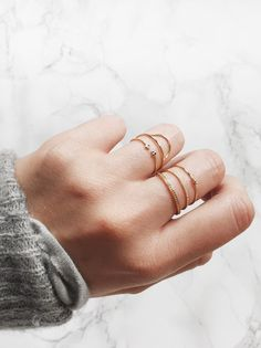 Layered thin rings