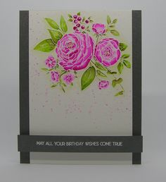 I bought this stamp ages ago and was inspired by a couple of challenges   to actually use it!   This is my card.....         I have used ...
