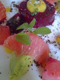 Fruit Salad, Ski, Watermelon, Panna Cotta, Purple, Ethnic Recipes, Food, Fruit Salads, Dulce De Leche