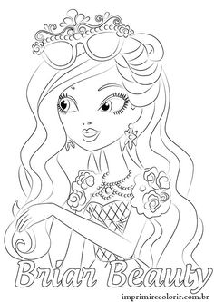 Ever After High Coloring Pages Book