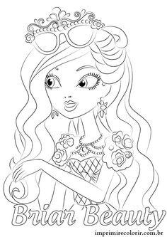 desenhos para colorir das ever after high coloring pages